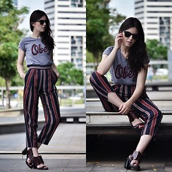Laura Views - Obey Tshirt, Zara Pants, Topshop Shoes - Keeping comfy; the basics