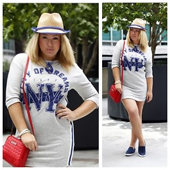 Azaliya Latypova - Zara Sport Dress, Topshop Neckless, Ann Taylor Hat, Coach Shoes, Kenneth Cole Crossbody Bag, Armani Exchange Bracelet - California dream