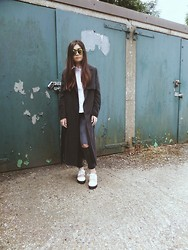 Unknown - Monki Duster Coat, Asos Cut Out White Lace Up, &Otherstories Green Reflective - First ever blogpost, hey guys