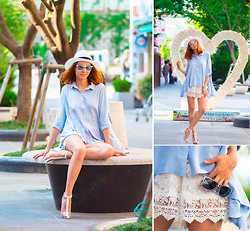 Lidia ♫♪♫ - Chic Wish Blouse, Chic Wish Shorts, Zerouv Sunglasses -  cool touch