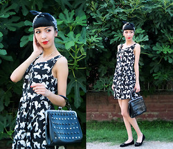 Katy Mage - Chicnova Cat Print Dress, Tbdress Vintage Inspired Bag - CATLADY