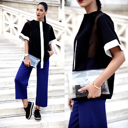 Konstantina Tzagaraki - Creepers, Clutch, Blouse, Pants - If you create from the heart, nearly everything works..