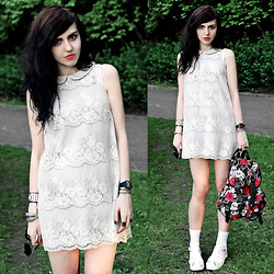 Klara S - Topshop Dress, New Look Shoes - White