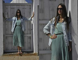 Amina Allam - Marc By Jacobs Sunnies, Zara Boyfriend Jacket, Freya Chiffon Dress, Melany Brown London Belt, Zara Sandals - Goodbye July