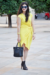 Amanda R. - H&M Dress, Local Store Bracelet, Lacoste Bag, Lodi Booties - Mesh booties - SomethingFashion