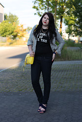 Elly E. - Gossengold Shirt, Rebecca Minkoff Bag, Miu Shoes, H&M Blouse, Maison Scotch Jeans - I woke up like this