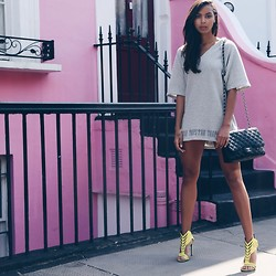 Arlissa Ruppert - Chanel Bag, Trapstar Hoodie Dress - Street Style
