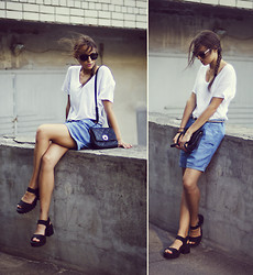 Darina Suprun - Zara T Shirt, Mango Shorts, New Look Shoes -  East of Eden