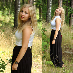 Joanna M - Monki Crop Top, Monki Maxi Skirt, Michael Kors Watch - THE FINNISH MAIDEN