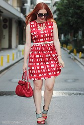 Call me M - Choies Dress, Valentino Bag For Sale, Ravel Sandals - Red & checkered
