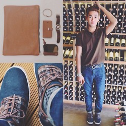 Rhonnel Tan Santos - Sm Accessories Envelope, Kenneth Cole Watch, Call It Springs Shoes, Topman Jeans, Lacoste Shirt - 080414