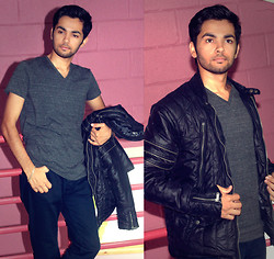 Masud Ahmadi - H&M Divided Black Jeans, H&M V Neck Shirt, Lmc Black Jacket - Getting ready for a cloudy/rainy day!