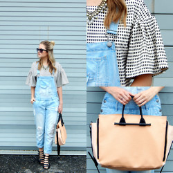 Laura P - Joa Checkered Crop Top, French Connection Uk Chelsea Tote, Call It Spring Borassi Gladiator Heel - Check It