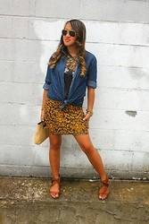 Cassandra Dotzel - Mossimo Dark Chambray Top, Michael Kors Chronograph Gold Watch, Michael Kors Weft Clutch, Target Deconstructed Men's Beatles Tee, Born Pretty Swallow Necklace, Ray Ban Vintage 60's Sunglasses - Passion