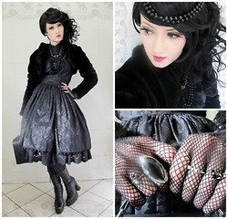Vamp B. - Selfmade Skirt, Selfmade Lace Underskirt, Cravo&Canela Boots - Lady Brocade