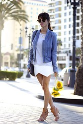 Lucia Mouet - Bcbg Jacket, Choies Skort - SUNFLOWERS