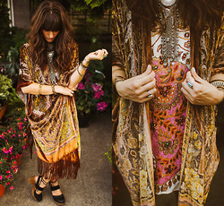 Tonya S. - Free People Gujakat Goddess Dress, Fringe Necklace, Free People Belmont Clogs - To Electric Ladyland