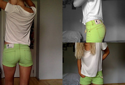 France Oly - Noisy May Large Tee, Maison Clochard Green Shorties - B.rave enough to love