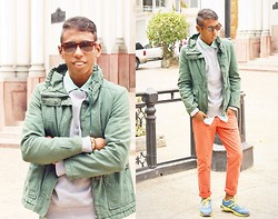 Adelso G. - Asos Jacket, Adidas Shoes, Zerouv Sunglasses - In to the colors