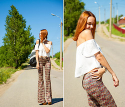 Lidia ♫♪♫ - Topshop Top, Pylo Pants -  road movie
