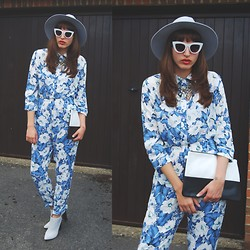 Amy-Rose W - Quay Sunglasses, Missguided Jumpsuit - Jump For Joy
