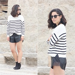 Romalo B - Mango Sweater, Oysho Shorts - STRIPES