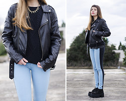 THE CLOSET Blog - Ay Not Dead Two Toned Jean, Complot Black Sweater - Unknown || The Closet blog