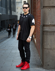 Jesse Maricic - Givenchy Tee, Converse Rubber Kicks, Diesel Watch - Seeing Stars