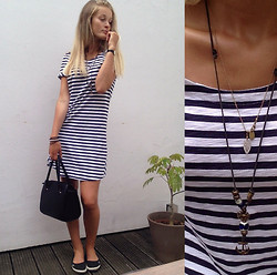 France Oly - Maison Scotch Necklace, Selfmade Fav. Necklace, Le Comptoir Des Cotonniers Straight Cut Dress - Captain says i hold the key
