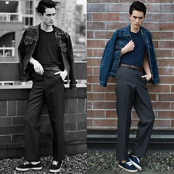 Nigel Lew - Levi's® Vintage Denim Jacket, Club Monaco Belt, Vintage Trousers - The Unofficial