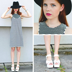 Evamaria K - Lindex Hat, 5preview Dress, New Look Top, River Island Shoes - Let's keep it minimal
