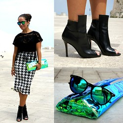 Annalisa Masella (www.insideme.it) - Glamorous, H&M, Primadonna, Zilla, Excape, Radà - Pied de poule e ankle boots in my look