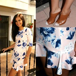 Jodie Barry - Zara Dress, French Connection Uk Mules - Floral chic
