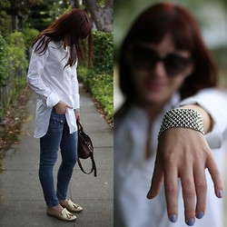 Adrienne KL - Prada Shoes, J. Crew Jeans, Kate Spade Bag, J. Crew Shirt - Blue Jeans || White Shirt