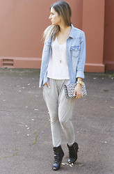 Emily S - H&M Shirt, Saint Laurent Clutch, Cameo The Label Pants - Casual