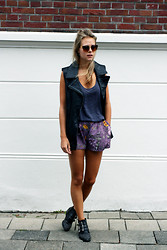 Jint B. - Costes Leather Vest, Sacha Studded Boots - Something old