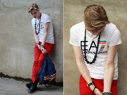 Seekingyouth - Amarni Shirt, Topman Trousers, Routeone Bag - Union Jack.