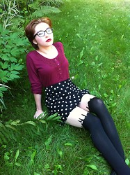 Evadne Norberto - Forever 21 Polka Dot Skirt - New Changes: Hair Cut