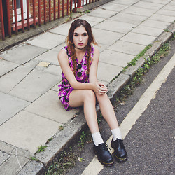 Silvy De Jong - Missguided Playsuit, Dr. Martens Shoes - FOOL FOR YOU
