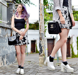 Fleur Chelsea - Asos Croptop, Chanel Bag, Topshop Skirt, Topshop Socks, Chic Wish Shoes, H&M Shirt - Summer breeze