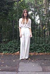 Angharad Jones - Zara Blouse, In Love With Fashion Trousers, Asos Heels - All white