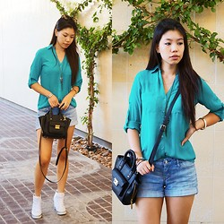 Josephine Ellen - Express Top, Express Shorts, 3.1 Phillip Lim Bag, Guess? Sneakers, Michael Kors Sunglasses - Geronimo