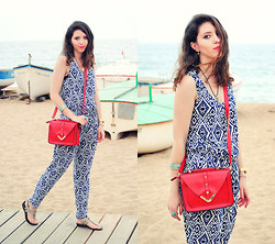 Ana Mª Aranda - Rosewholesale Bag, Forever 21 Bracelet, Born Pretty Store Earrings - NEW JUMPSUIT