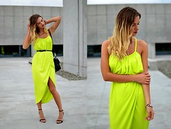 Kasia Z. - Dress - YELLOW WRAP DRESS