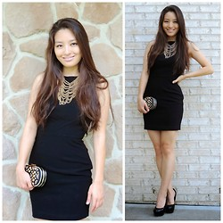 Kimberly Kong - Talulah Dress, Accessory Concierge Necklace, Handbag Heaven Clutch, Candie's Shoes - The High Neck LBD