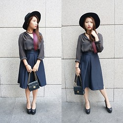 Angeline Ng - Topshop Heels, H&M Sheer Top - Dark Parisian