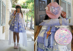 Avina ★彡 - Angelic Pretty Milky Planet Pin, Starlight Deco Dream Sakura Key Necklace, Angelic Pretty Misty Sky One Piece (First Release) - The sky is everywhere, it begins at your feet.