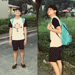 Rex Dela Cruz - Le + Men Shirt, Billabong Black Shorts With Anchor Prints - OMWH
