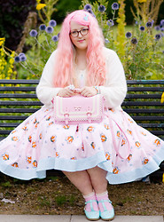 Georgina Doull - Hell Bunny Dress, Floozie Bag, Dolly Darling Ring, H&M Cardigan, Asos Shoes, Primark Socks - Life's a show & we all play our parts
