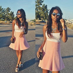 Muny B - Zara Skirt, Zara Wedges, Zara Bag, Daniel Wellington Watch - Rose Feeling
